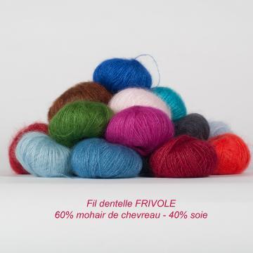 Peloton 10g laine mohair et soie FRIVOLE - Mohair des Fermes de France