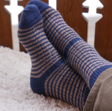 Chaussettes mohair rayées Triskel