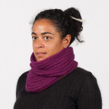 snood mohair et soie tricoté