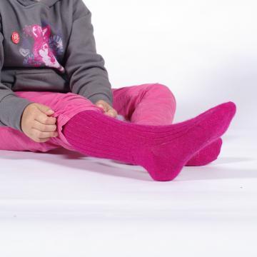 chaussettes hautes en mohair (mi bas)
