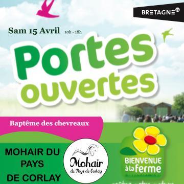 """Portes ouvertes """"Baptême des chevreaux"""" 15 avril 2017"""