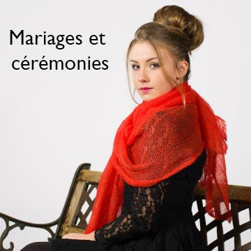 Mariages et cérémonies étole en mohair et soie