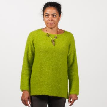 Pull tunique femme mohair et soie - Mohair du Pays de Corlay