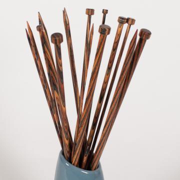 Jeu de 2 aiguilles à tricoter bois naturel - Mohair du Pays de Corlay