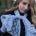 Miss 15/17 Bretagne 2015, écharpe et gants en mohair