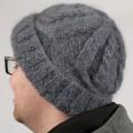 Bonnet mohair à torsades structurées