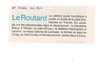 Ouest France 05/10/2016 page Région Bretagne