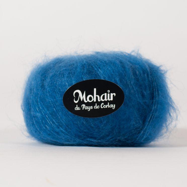 Pelote laine mohair et soie diva france for Couleur bleu paon
