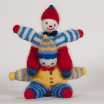 Clown tricoté en mohair