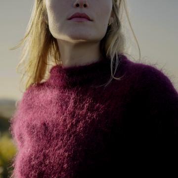 """Pull """"Toulouse"""" tricoté à la main"""