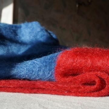 Petit plaid 100% laine mohair