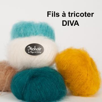 Pelote laine mohair et soie DIVA, France