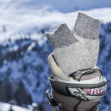 Chaussettes de montagne et randonnée mohair et laine