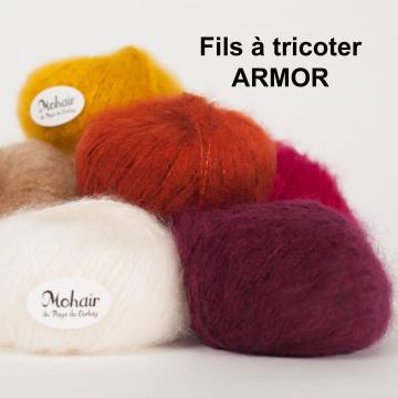 Pelote mohair pur laine ARMOR filé en France