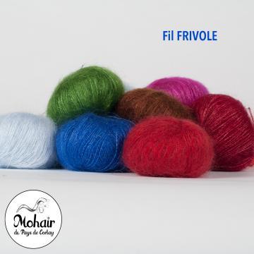 Pelote 10g laine fine mohair et soie FRIVOLE - Mohair des Fermes de France