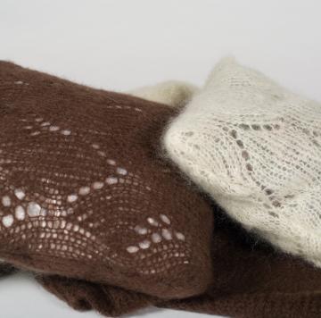Housse de coussin en laine mohair tricoté