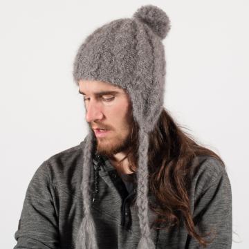 Bonnet péruvien mohair à torsade