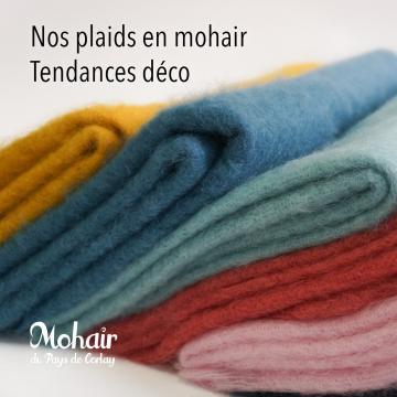 Plaids mohair, couvertures mohair, écharpes et étoles tissées