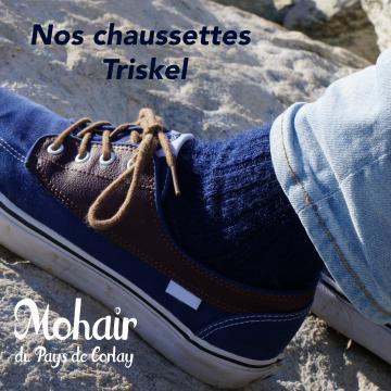 Chaussettes chaudes en Mohair du Pays de Corlay