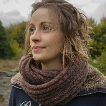 snood mohair et soie tricoté très actuel