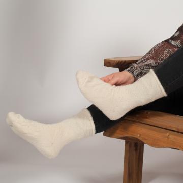 Chaussettes en laine mohair de chevreau