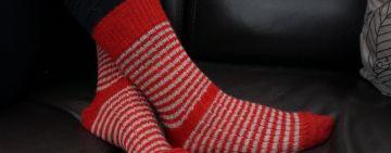 chaussettes en mohair de chevreau