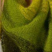 Chèche tricoté main printemps