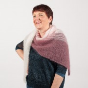 Chèche tricoté main
