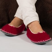 Ballerines enfant en mohair et laine Made in France