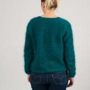 """Gilet """"épi"""" tricoté à la main"""