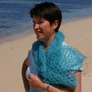 Carré tricoté mohair et soie