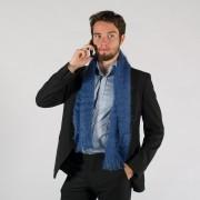 Petite écharpe tissée mohair et soie