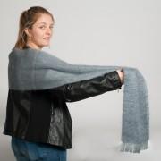 Grande écharpe tissée mohair et soie