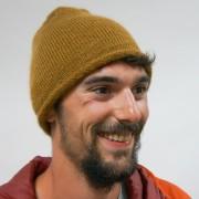 Bonnet roulotté mohair et soie