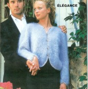 "Cardigan ""Elegance"" 8p. CARESSE ou ARMOR ou 16p. DIVA tricot double Aig 4,5"
