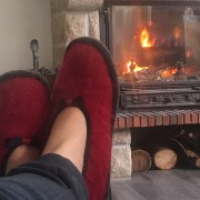 Pantoufle ballerines en mohair et laine Made in France