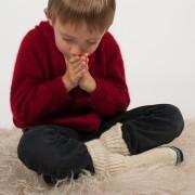 Chaussetons enfants en mohair et laine