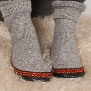 Chaussetons adultes en mohair et laine