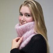 Col Cyprès mohair tricoté main