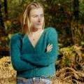 Gilet épi tricoté à la main