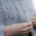 """Gilet """"Flora"""" tricoté à la main"""