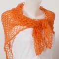 Carré tricoté mohair et soie Couleur Orange