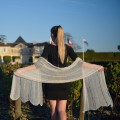 Étole tricotée à vagues mohair et soie