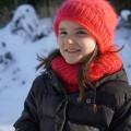 Bonnet pour petite tête, en mohair et soie tricoté main