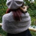 Étole ajourée tricotée main