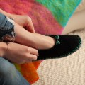 Pantoufle ballerines en mohair et laine Made in France