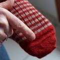 Chaussettes longues TRISKEL remaillées traditionnellement à la main