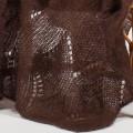 Grand plaid tricoté, détail de la maille