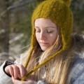 Bonnet péruvien mixte mohair tricoté main