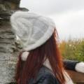 Bonnet mixte mohair à torsades structurées